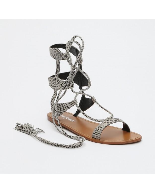 Sandales - cuir - blanc et...