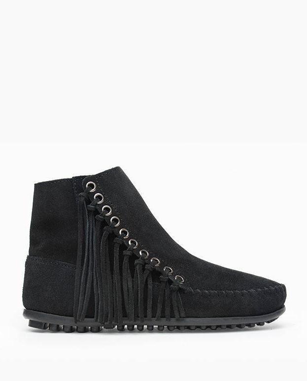 Minnetonka Willow Boot Black