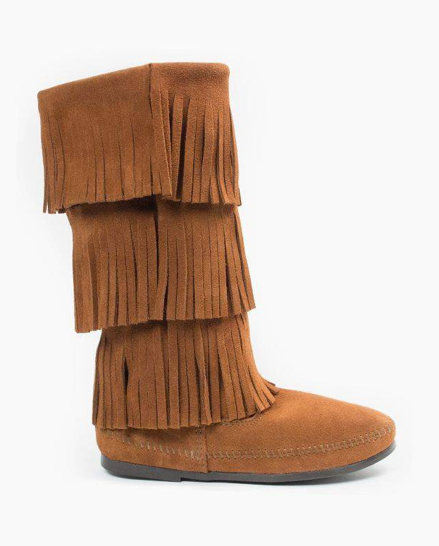 Minnetonka 3-Layer Fringe Boot Brown