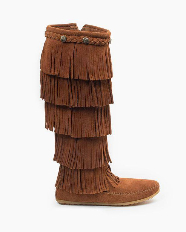 Minnetonka 5-Layer Fringe Boot Brown