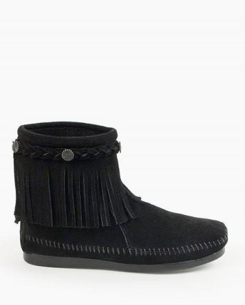 Hi Top Back Zip Boot Black