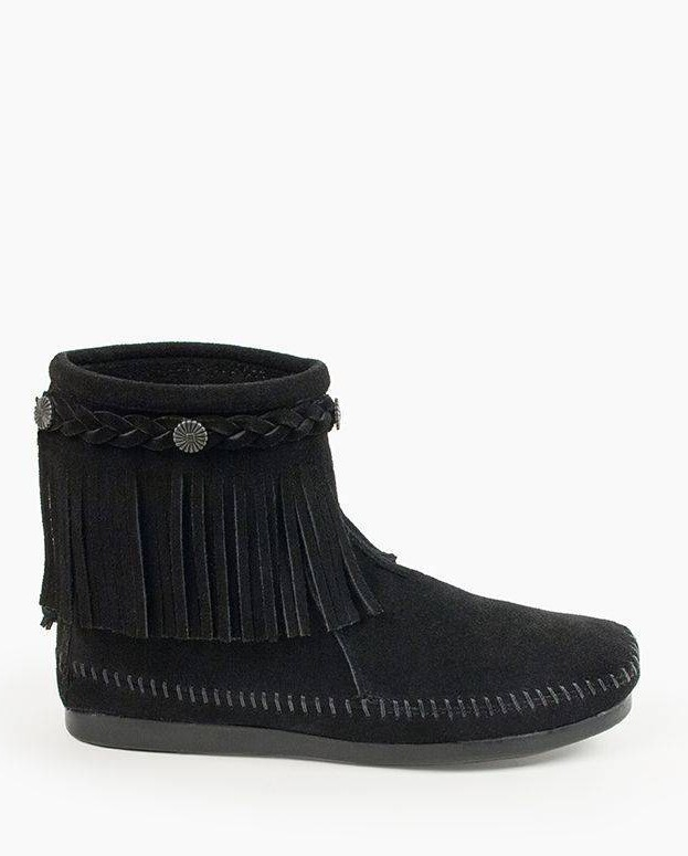 Hi Top Back Zip Boot Black