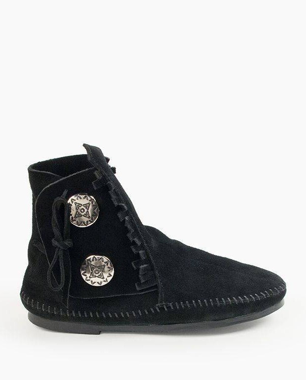 Two Button Hardsole Boot Black