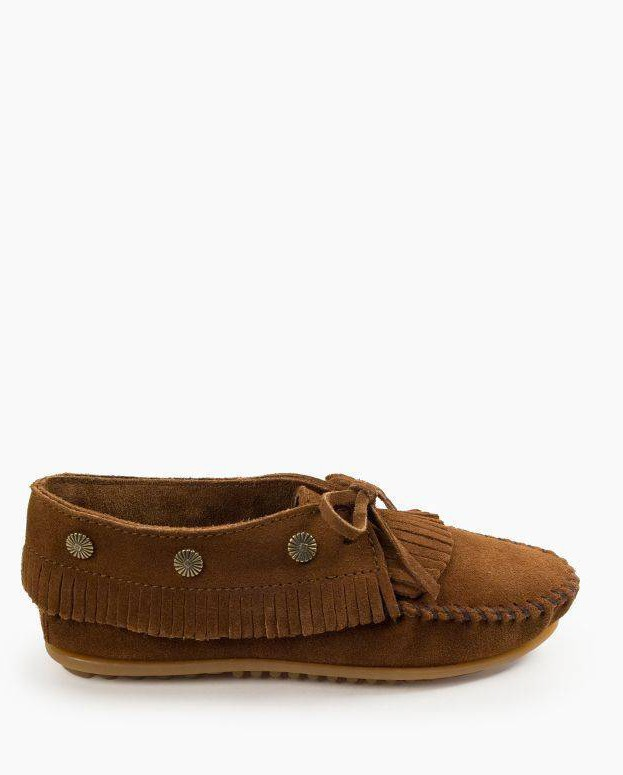 Fringed Moc Dusty Brown