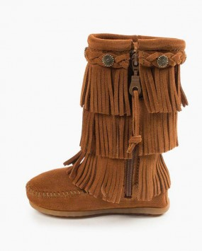 3-Layer Fringe Boot Brown