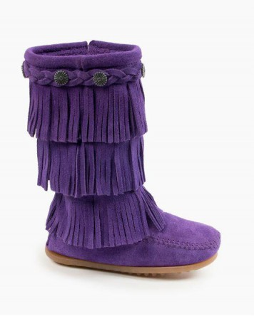3-Layer Fringe Boot Purple