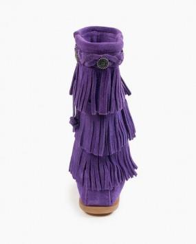 3-Layer Fringe Boot Purple