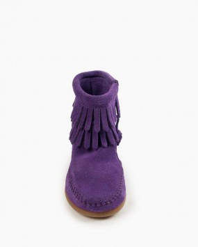 Double Fringe Side Zip Boot Purple