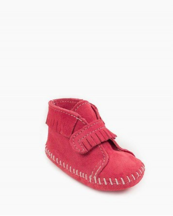 Front Strap Bootie Softsole Hot Pink
