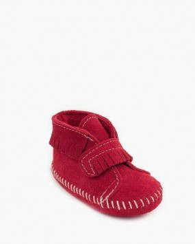 Front Strap Bootie Softsole Red