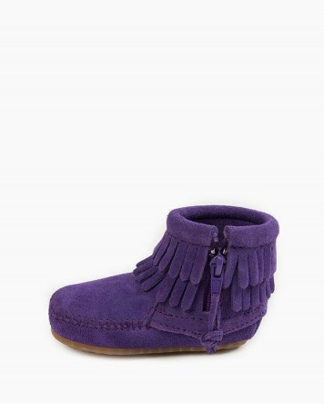 Double Fringe Bootie Purple