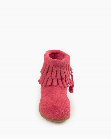 Double Fringe Bootie Hot Pink