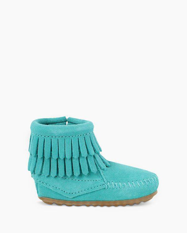Double Fringe Bootie Turquoise