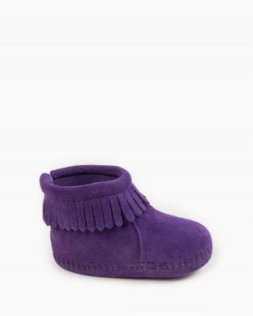 Back Flap Bootie Purple