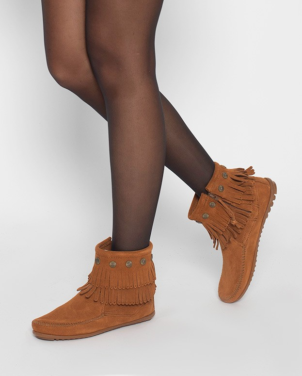Double Fringe Side Zip Boot...