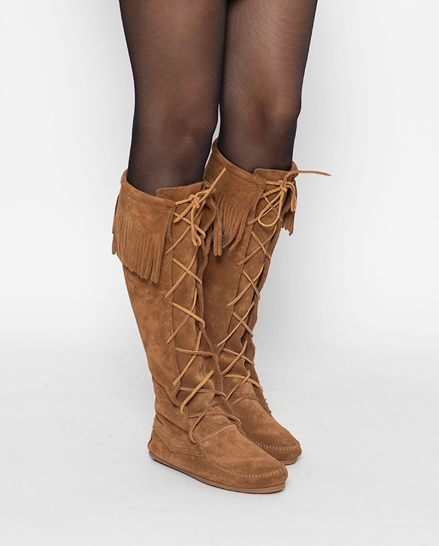 Front Lace Knee High Boot...