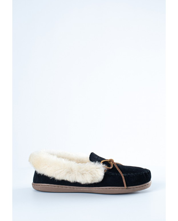 Alpine Sheepskin Moc Black