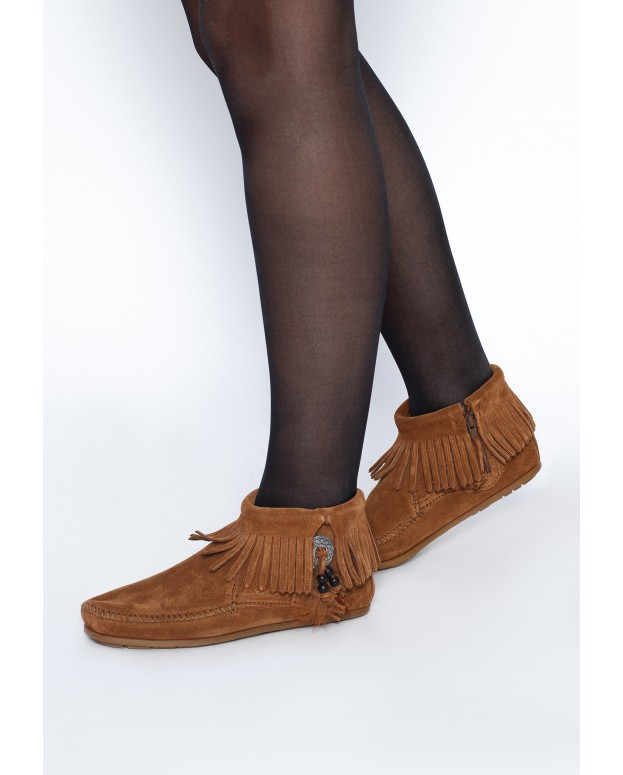 Concho Feather Boot Brown