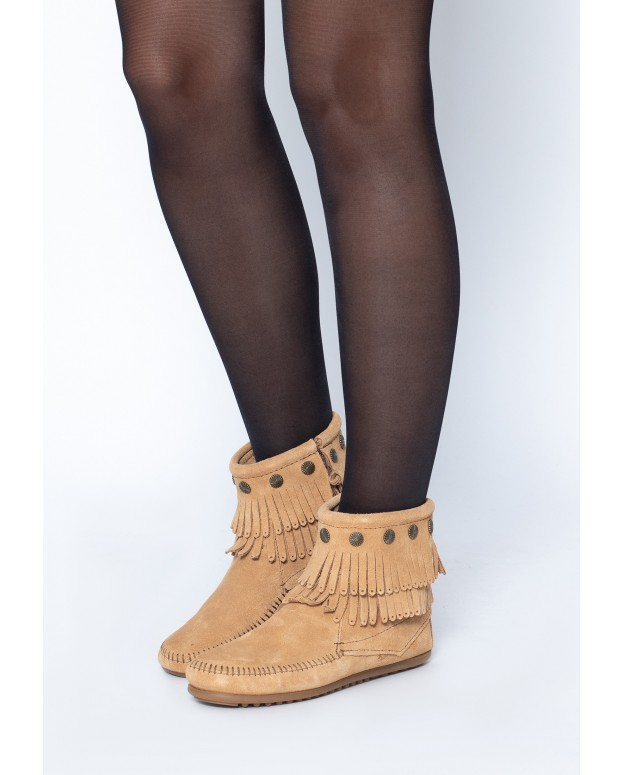 Double Fringe Side Zip Boot...